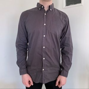 Frank & Oak gray button down shirt